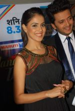 Ritesh Deshmukh, Genelia D_Souza on the sets of Dance India Dance in Famous on 20th feb 2012 (33).JPG