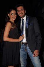 Ritesh Deshmukh, Genelia D_Souza on the sets of Dance India Dance in Famous on 20th feb 2012 (58).JPG