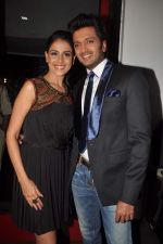 Ritesh Deshmukh, Genelia D_Souza on the sets of Dance India Dance in Famous on 20th feb 2012 (62).JPG