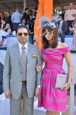 yohan and michelle poonawala at Poonawala breeders Multi Million race in Mumbai on 26th Feb 2012.JPG