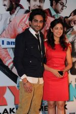 Ayushmann Khurrana, Yami Gautam at the first look at Vicky Donor film in Cinemax on 7th March 2012 (45).JPG