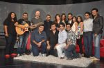 Deepika Padukone, Ritesh Deshmukh, Karan Johar, Raveena Tandon, Shankar Ehsaan Loy on the sets of NDTV show with Raveena in Yashraj on 7th March 2012 (138).JPG