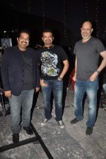 Shankar Ehsaan Loy  on the sets of NDTV show with Raveena in Yashraj on 7th March 2012 (144).JPG