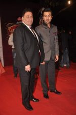 Ranbir Kapoor, Rishi Kapoor at The Global Indian Film & Television Honors 2012 in Mumbai on 15th March 2012 (531).JPG