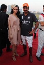 Neha Dhupia, Maharaja of Jaipur Narendra Singh  at 3rd Asia Polo match in RWITC, Mumbai on 17th March 2012 (55).JPG