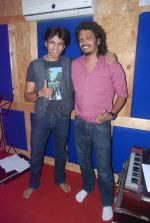 Abhijeet Sawant and Nakash at a song recording for LIfe OK serial Aasman Se Aagey in Andheri, Mumbai on 19th March 2012 (11).JPG