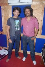 Abhijeet Sawant and Nakash at a song recording for LIfe OK serial Aasman Se Aagey in Andheri, Mumbai on 19th March 2012 (7).JPG