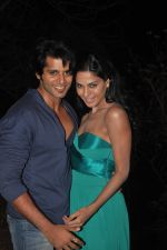 Karanveer-Bohra-And-Veena-Malik at the Thriller and Horror Movie Mumbai 125 Kms on 21st March 2012.jpg