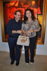 vikram sethi with poonam dhillon at Paresh Maity art event in ICIA on 22nd March 2012.JPG