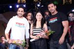 John Abraham, Ayushman khurana, Yami Gautam at Vicky Donor Promotional event in Marine Lines, Mumbai on 23rd March 2012 (1).JPG