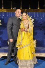 Shiv Karan Singh and Reemma at Reema Sen wedding reception in Mumbai on 25th March 2012.jpg