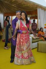 Shiv Karan Singh with Reemma Sen at Reema Sen wedding reception in Mumbai on 25th March 2012 (3).jpg