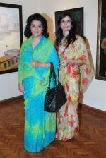 maharani asha gaekwad with pragya gaekwad at Indian Art Maestros exhibition in India Fine Art on 27th March 2012.JPG