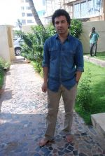 Aamir Bashir on location of film Future Toh Bright Hai Ji on 1st April 2012 (14).JPG