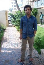 Aamir Bashir on location of film Future Toh Bright Hai Ji on 1st April 2012 (15).JPG
