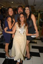 Rupali Ganguly, Tony Singh, Shweta Tiwari with Deeya Singh at the Celebration of the Completion Party of 100 Episodes of PARVARISH�..kuch khatti kuch meethi in bowling alley on 7th April 2012.JPG