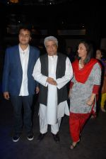 Azaan Khan, Javed Akhtar and Praveen Khan at the launch of singer Azaan Khan_s debut album Philo- sufi in New Delhi on 30th March 2012.JPG