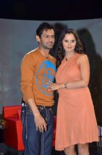 Sania Mirza, Shoaib Malik at  NDTV_s Raveena chat show inMumbai on 14th April 2012 (108).JPG