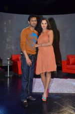 Sania Mirza, Shoaib Malik at  NDTV_s Raveena chat show inMumbai on 14th April 2012 (110).JPG