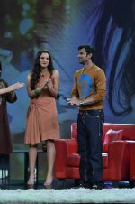 Sania Mirza, Shoaib Malik at  NDTV_s Raveena chat show inMumbai on 14th April 2012 (35).JPG