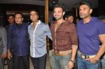 Akshay Kumar, Sunil Shetty, Mithun Chakraborty, Mimoh Chakraborty at the first look of movie Tukkaa Fit in Novotel, Mumbai on 11th May 2012 (11).JPG