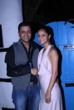 Ash Chandler & Junelia Aguiar at Olive Bandra Celebrates release of the Film Love, Wrinkle- Free in Mumbai on 29th May 2012.JPG