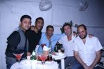 Ash Chandler, Ravi Krishnan, AD Singh, A friend & Photographer Farrokh Chothia at Olive Bandra Celebrates release of the Film Love, Wrinkle- Free in Mumbai on 29th May 2012.JPG