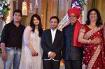 Rajpal yadav with Govind namdev, his daughter pallavi & son-in-law Vibin das  at wedding of Pallavi Govind Namdev with Vibin Das on 25th May 2012.JPG