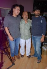 Sajid Khan, Sameer, Wajid at the song recording of Himmat Wala on 20th June 2012 (7).JPG