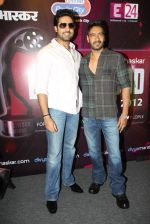 Abhishek  Bachchan, Ajay Devgan at Bol Bacchan promotions in Andheri, Mumbai on 23rd June 2012 (19).JPG