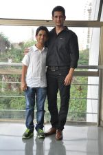 Sharman Joshi,Ritvik Sahore  at Ferrari Ki Sawaari Kids Spl Screening in Mumbai on 24th June 2012 (71).JPG