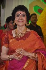 Vyjayanthimala at Esha Deol_s wedding in Iskcon Temple on 29th June 2012 (177).JPG