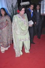 Tusshar Kapoor, Jeetendra, Shobha Kapoor at Esha Deol_s wedding reception in five-star hotel,Mumbai on 30th June 2012 (139).JPG