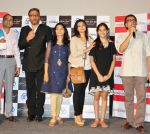 Producer Anand Shukla, Jackie Shroff, Sunita Chhaya, Ankita Shrivastav, Ananth Mahadevan at Ektanand Pictures LIFE IS GOOD trailer launch in Cinemax, Mumbai on 5th JUly 2012.jpg