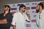 Abhishek Bachchan, Ajay Devgan, Rohit Shetty at Bol Bachchan promotions in Fame on 6th July 2012 (13).JPG