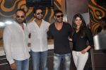 Abhishek Bachchan, Ajay Devgan, Rohit Shetty, Prachi Desai at Bol Bachchan promotions in Fame on 6th July 2012 (55).JPG