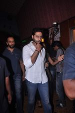 Abhishek Bachchan meets fans to promote Bol Bachchan in Gaeity, Mumbai on 7th July 2012 (28).JPG