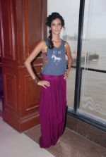 Poorna Jagannathan proudly declares, I AM A VEGETARIAN in new PETA AD in Mumbai on 9th July 2012 (12).JPG