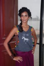 Poorna Jagannathan proudly declares, I AM A VEGETARIAN in new PETA AD in Mumbai on 9th July 2012 (17).JPG
