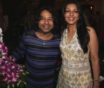 kailash kher with bhumika chawla at Kailash Kher_s Birthday Party in Masala Mantar, Mumbai on 9th July 2012.JPG