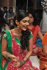 Aakanksha Singh at Na Bole Tum Na Maine Kuch Kaha on location for sangeet ceremony in Malad on 17th July 2012 (218).JPG