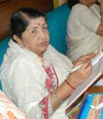 Lata Mangeshkar photo at Goa Portuguesa, Andheri.JPG