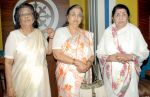 Lata, Usha & Mina Mangeshkar photo at Goa Portuguesa, Andheri.JPG