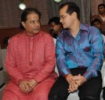 Anup Jalota with Champak Jain at the launch of Ravindra Jain_s devotional album by Venus Worldwide Entertainment Pvt. Ltd on 3rd Aug 2012.JPG