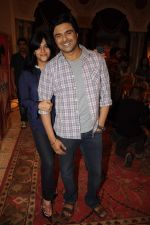 Samir Soni,Ekta Kapoor on the sets of Parichay - Nayee Zindagi Kay Sapno Ka in Mumbai on 9th Aug 2012 (22).JPG