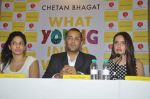 Shazahn Padamsee,Masaba,Chetan Bhagat at Chetan Bhagat_s Book Launch - What Young India Wants in Crosswords, Kemps Corner on 9th Aug 2012 (143).JPG