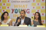 Shazahn Padamsee,Masaba,Chetan Bhagat at Chetan Bhagat_s Book Launch - What Young India Wants in Crosswords, Kemps Corner on 9th Aug 2012 (147).JPG