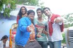 Prateek Chakravorty, Sharad Malhotra, Bidita Bag, Karan Sagoo at Sydney With Love film bus tour promotions in Mumbai on 31st Aug 2012 (40).JPG