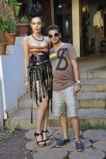 Designer Umair Zafar shoots with Femina Miss India finalist Ridhima Pai in Madh on 1st Sept 2012 (3).JPG