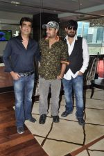 Kishan Kumar, Sajid, Wajid at the Audio release of Ishkq In Paris in Mumbai on 17th Sept 2012 (23).JPG